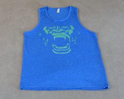Inner Beast Gorilla Face Tank Blue Green