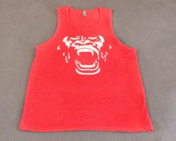 Inner Beast Gorilla Face Tank Red